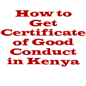 Apply for the Certificate of Good Conduct