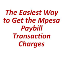 Mpesa Paybill Transaction Charges